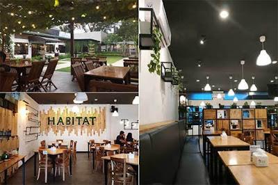 habitat cafe medan