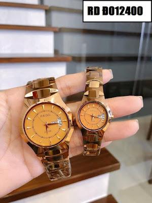 Đồng hồ cặp đôi màu vàng Rado RD Đ012400