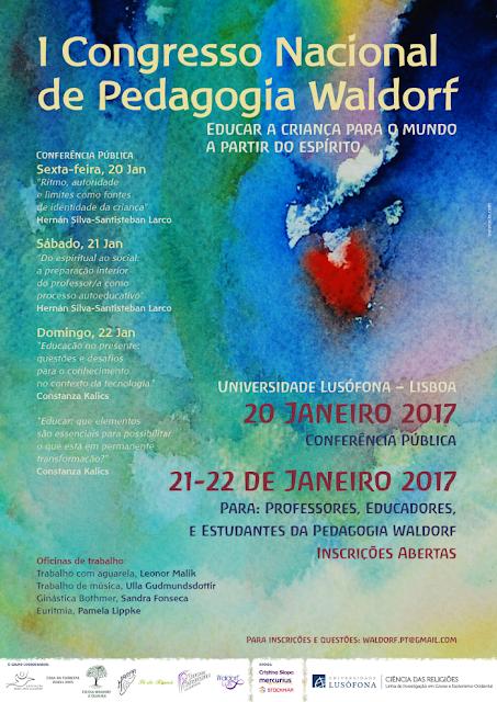 Cartaz - I Congresso Nacional de Pedagogia Waldorf