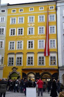 Fachada de la Casa Natal de Mozart.
