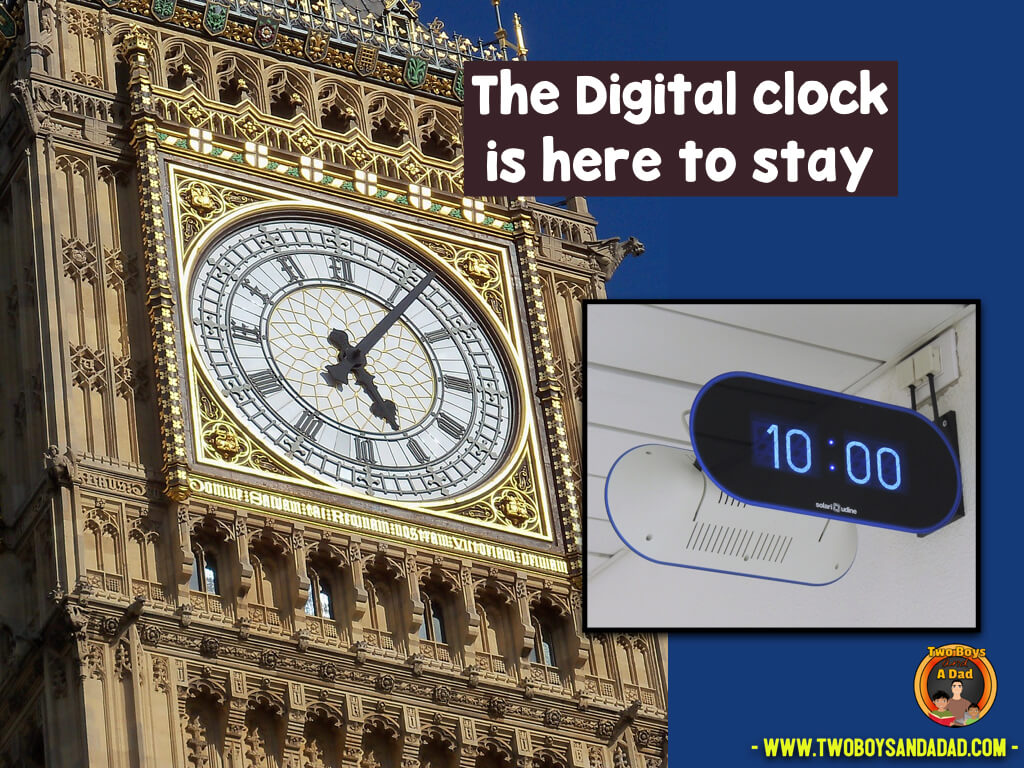 Digital clocks are here to stay