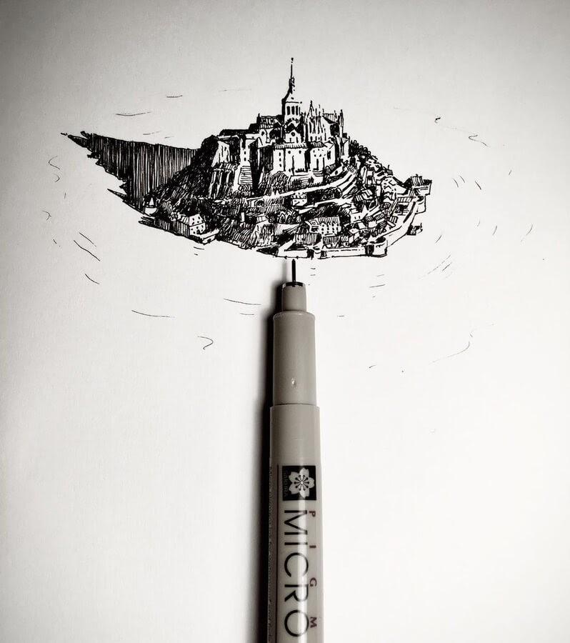 10-Tiny-Mont-S-Michel-Mark-Poulier-www-designstack-co