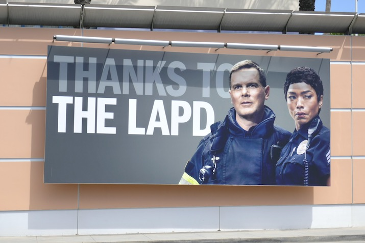 Thanks LAPD 911 billboard