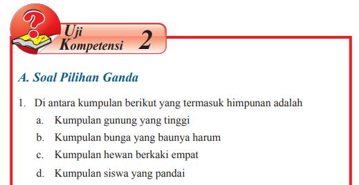 Jawaban Buku Matematika Kelas 7 Uji Kompetensi 2 Hal 185 192 Di Antara Kumpulan Berikut Pentium Sintesi