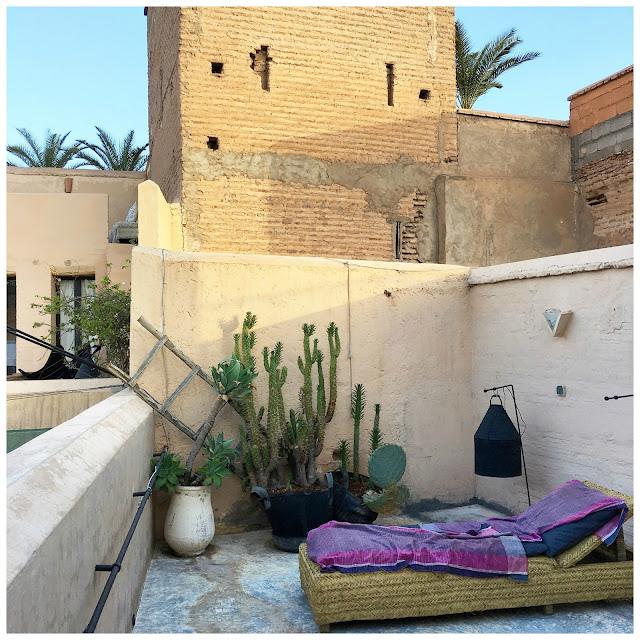 Terrasse/ Rooftop / Linge de maison V.Barkowski / Riad Dar Kawa / No-Mad /