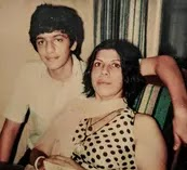 chunky panday with her mother