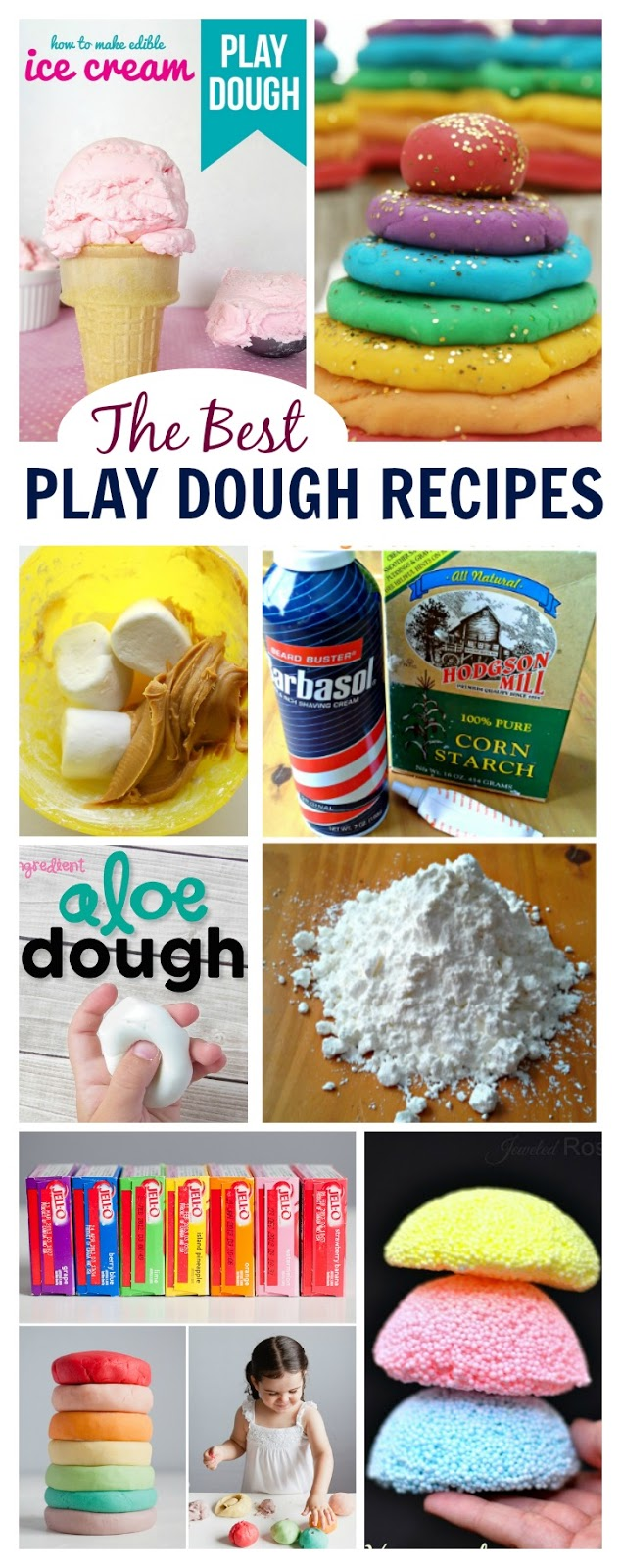 Amazing play dough recipes for kids