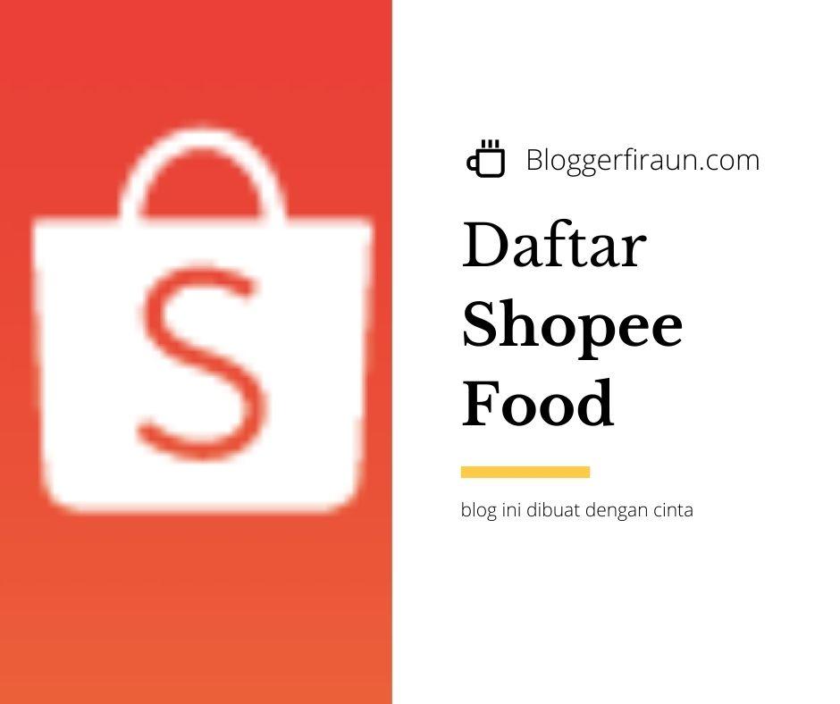 pendaftaran shopee food merchant