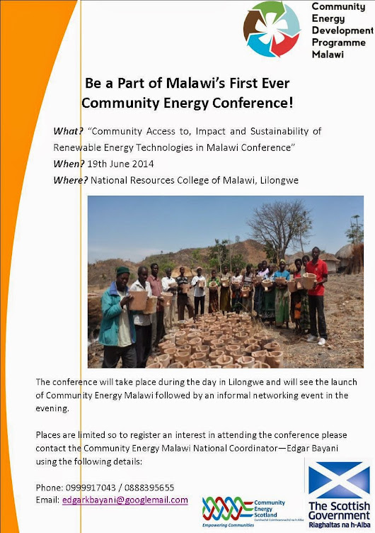 Community Energy Conference in Malawi Announced!