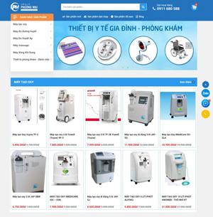 Mẫu website thiết bị y tế