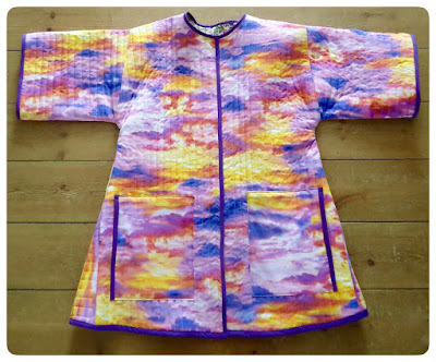 Finished flaming sunset jacket: Vogue 9554 made with love by Ivy Arch