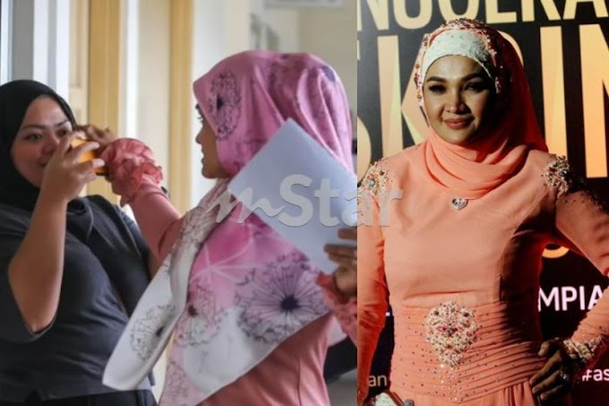 """""""Tak sukalah"""" - Zarina Zainuddin tepis kamera wartawan selepas didenda RM17,500"""
