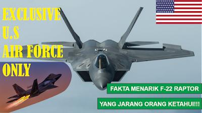 Kupas Tuntas Pesawat Tempur Eksklusif US Air Force: F-22 Raptor
