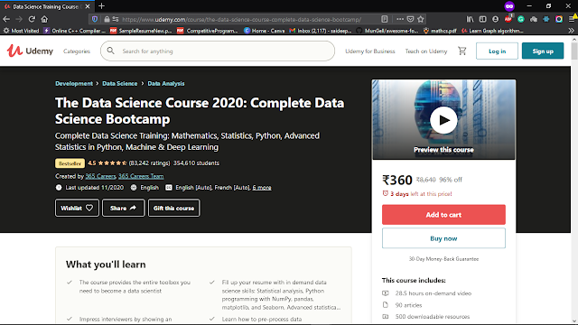 The Data Science Course: Complete Data Science Bootcamp: