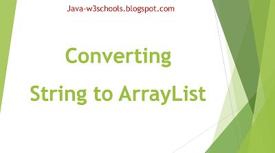 Java Program To Convert String to ArrayList Using Arrays.asList()