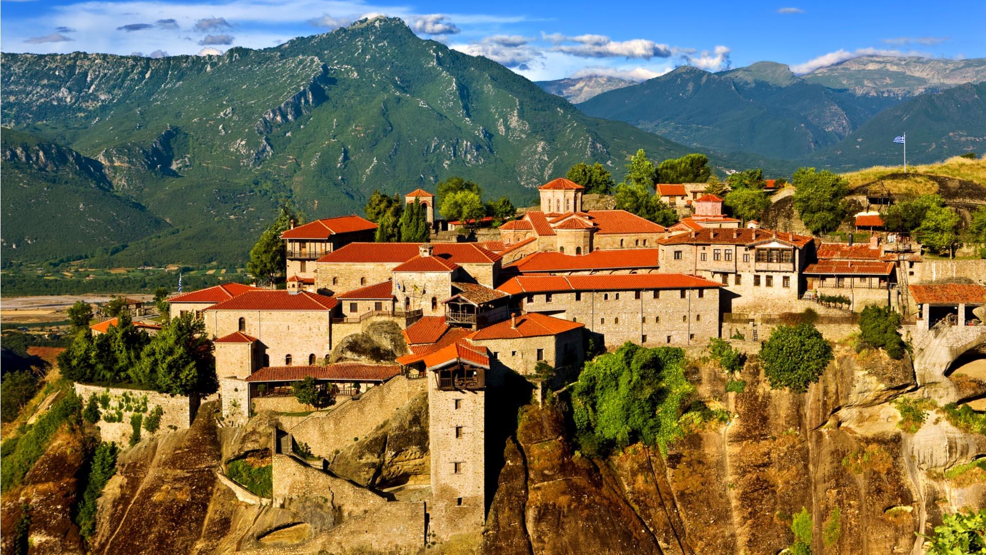 Монастырь Великий Метеорон в Греции