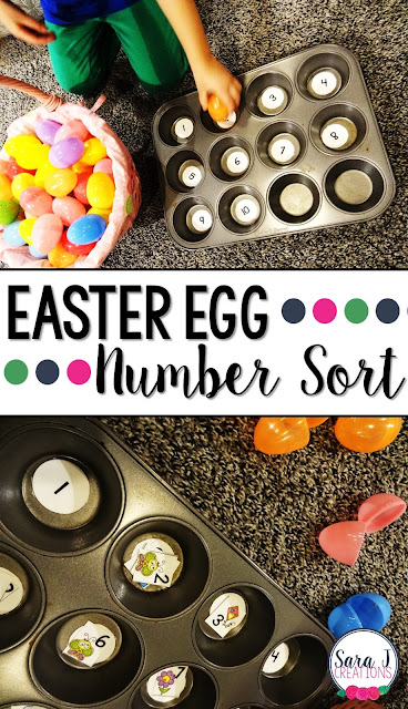 Free spring themed number and color sort. Stick them in plastic Easter eggs and you have some cute practice for preschool or kindergarten.