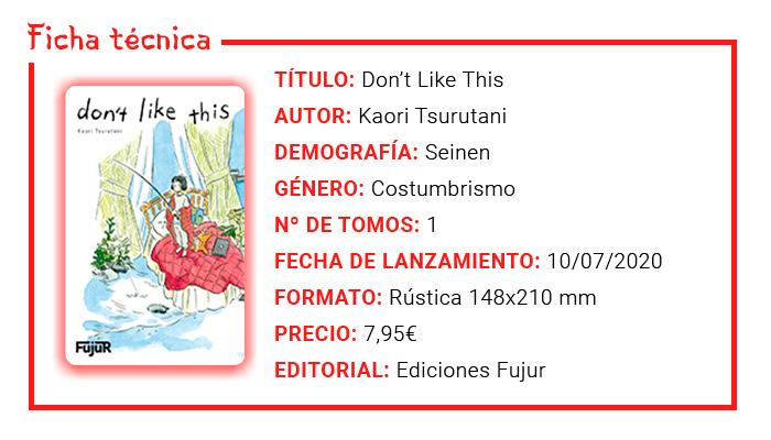 Review Manga: Don't Like This (Kaori Tsurutani) - Ediciones Fujur - ficha técnica