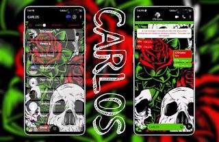 Skull & Rosas Theme For YOWhatsApp & Fouad WhatsApp By Carlos