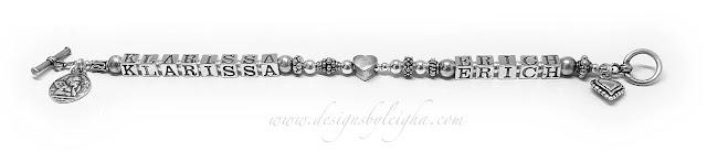 Klarissa and Erich Hearts Mother Charm Bracelet