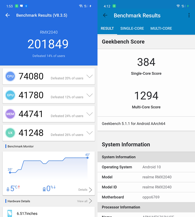 Monster AnTuTu and Geekbench scores for an under PHP 10K smartphone