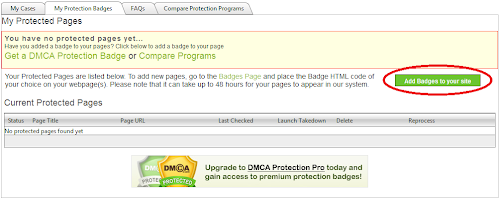 Mendaftarkan Blog di DMCA Protection
