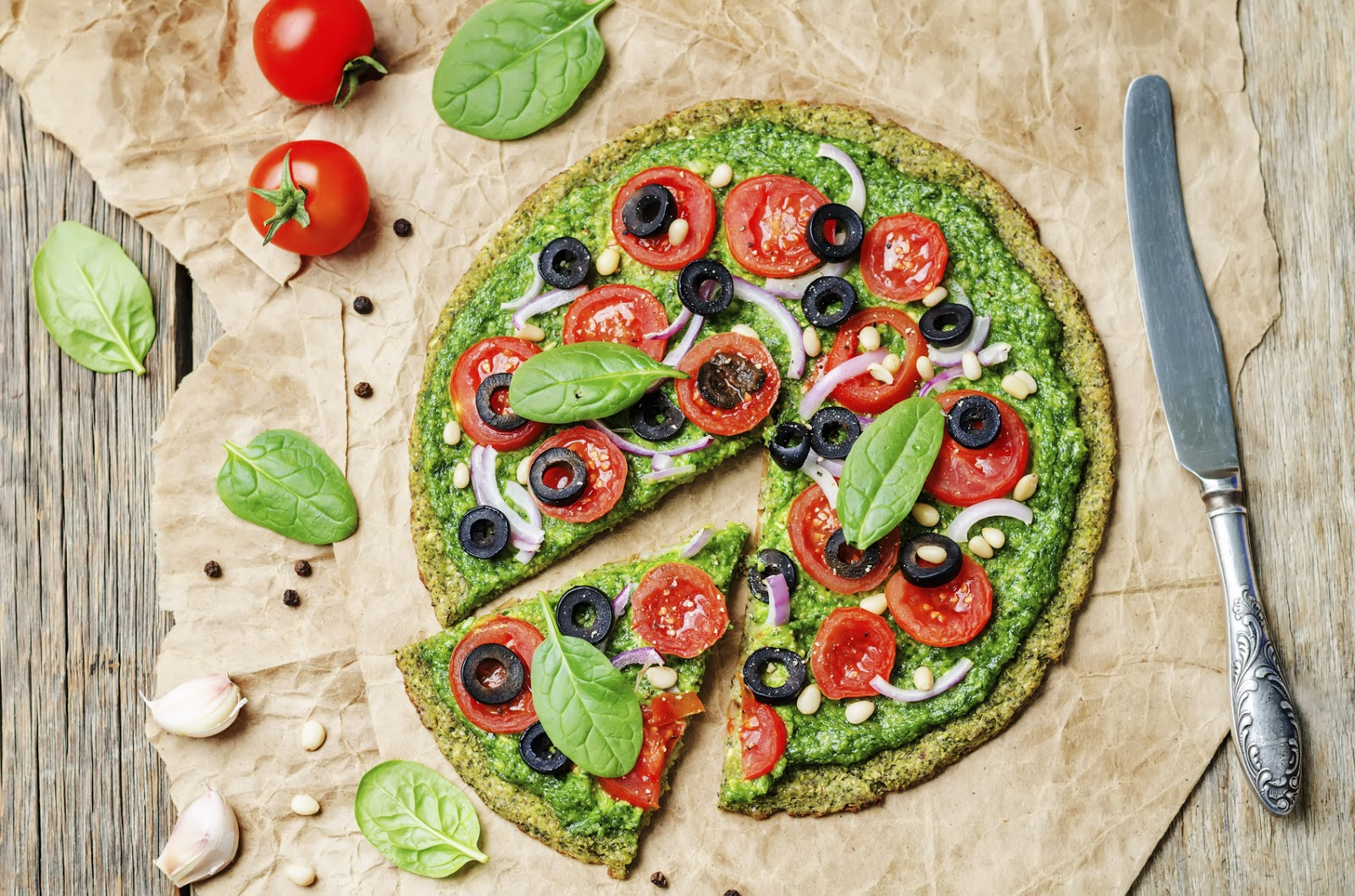 Quinoa Pizza Pesto