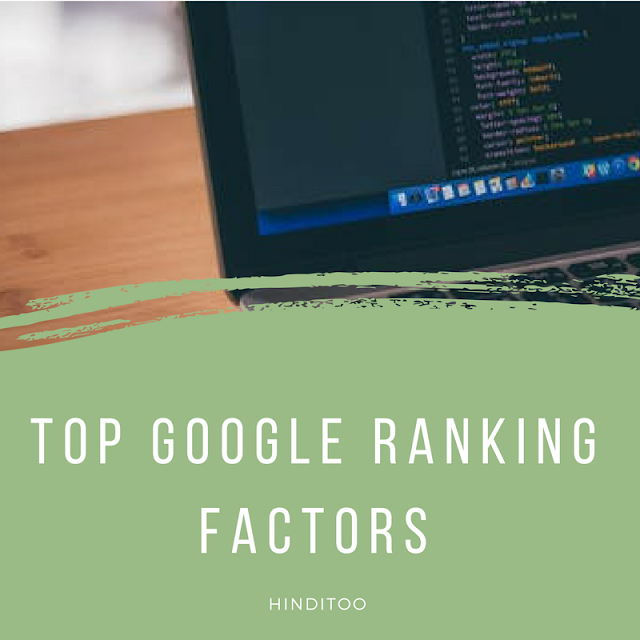 Top google ranking factors