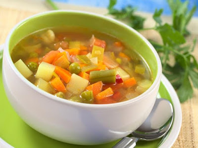Start your meal with a healthy low calorie vegetable soup Vegetable Soup Recipe