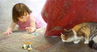 estetico-realismo-pinturas-con-ninas pinturas-de-ninas-cuadros-realistas-oleo