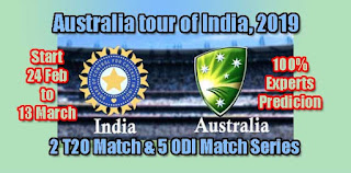 AUS vs IND 1st ODI 2.3.2019 Today Match Prediction Tips by Experts