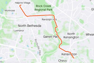 Map of my run, described in the text below.