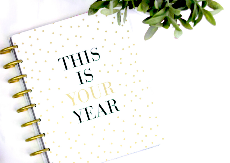 Notebook with a slogan 'This is your year' in a post about 20 things you can do before the end of 2020