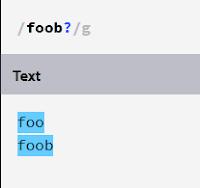 regex foob?