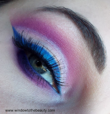 purple blue party makeup