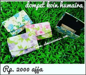 souvenir dompet batik humairo koin