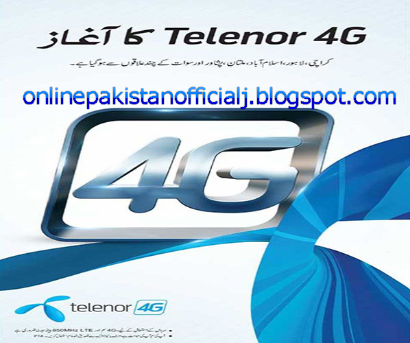 Telenor Start 4G Service in Pakistan