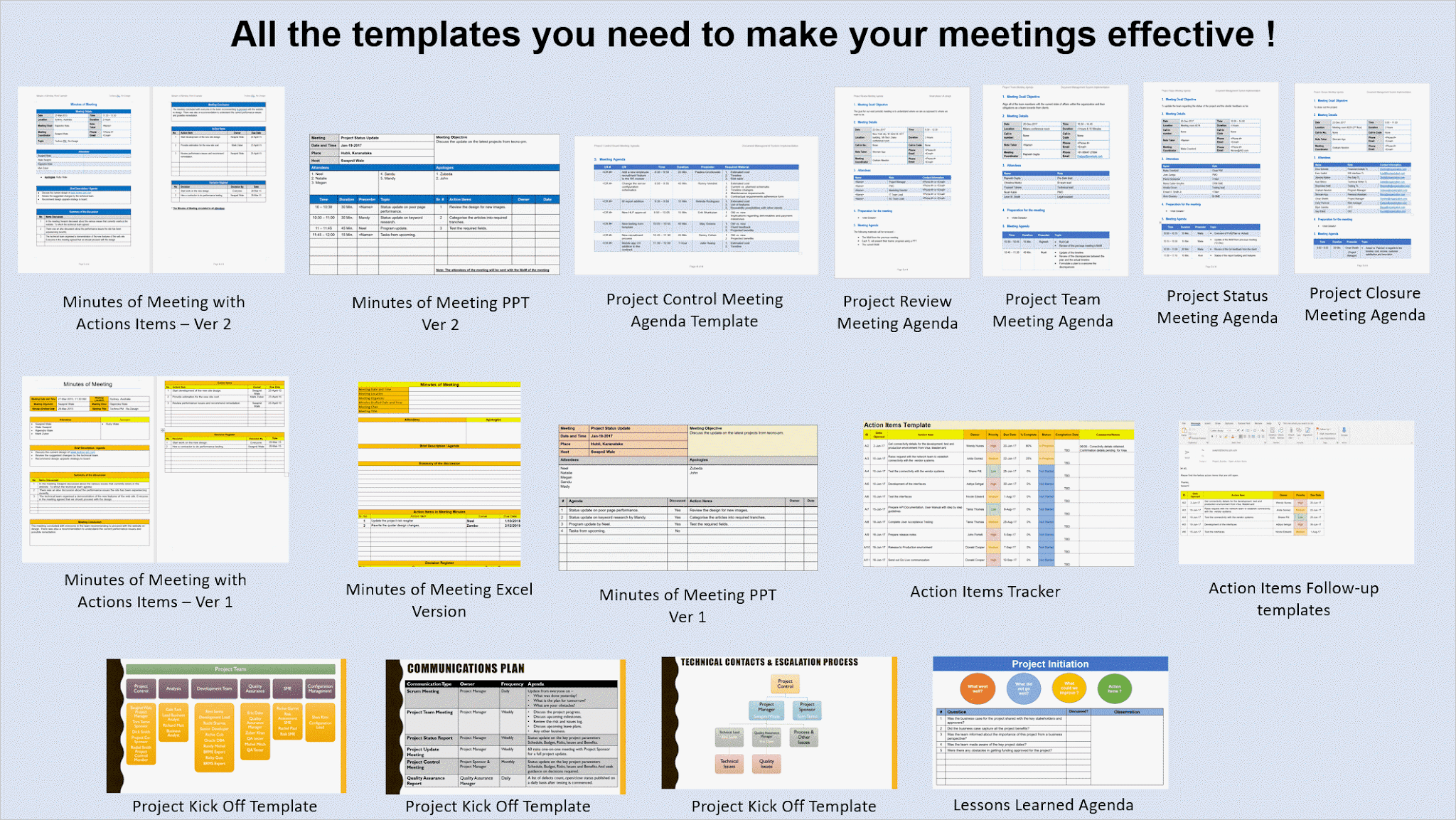 These free samples are in word, excel or pdf format. Meeting Minutes Template Excel And Word Free Download Project Management Templates