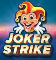Logo from the Joker Strike slot game