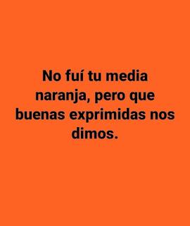 Estado de Facebook de Humor : Media naranja