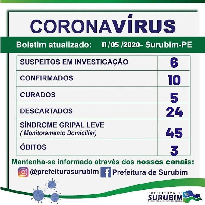 URGENTE: Sobe para três o número de mortes por Covid-19 em Surubim