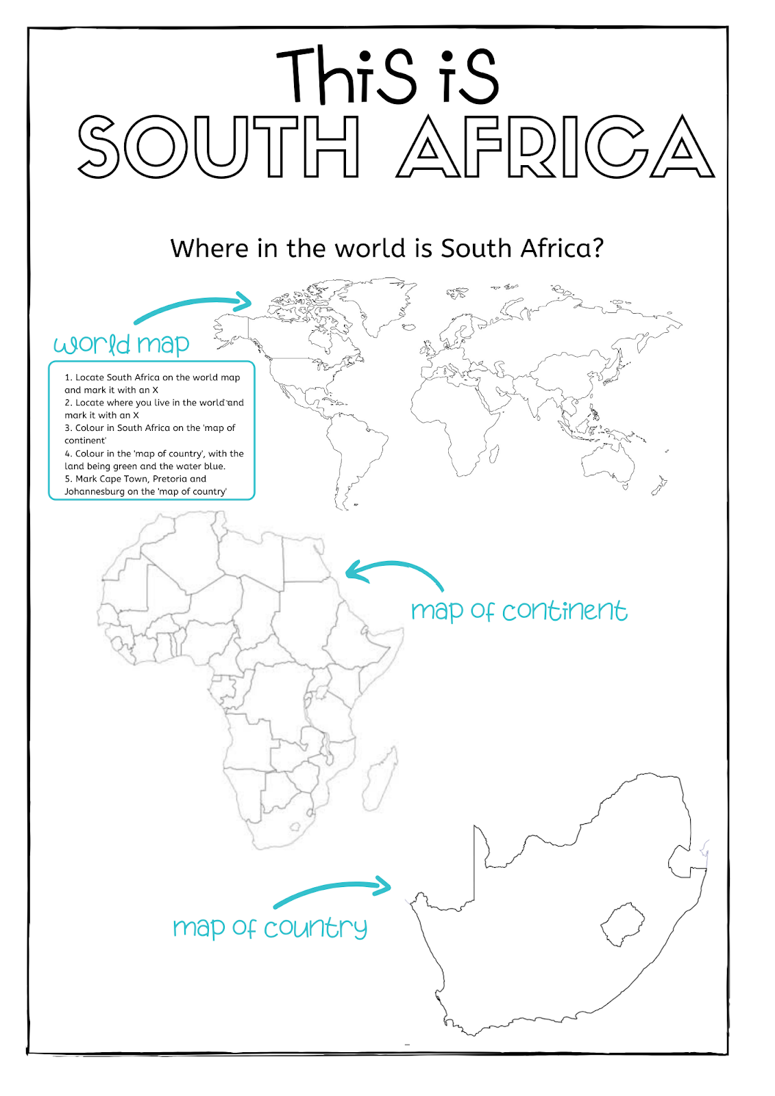 South Africa Worksheet Bundle