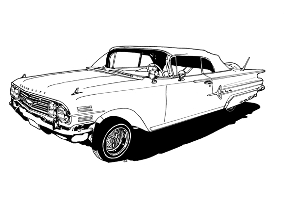 1950s Car Coloring Pages (7 Image) – Colorings.net