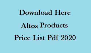 Altos Products Price List