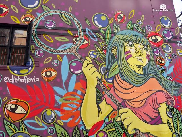 Close-up de Grafite na Vila das Cores - Vila Mariana - São Paulo