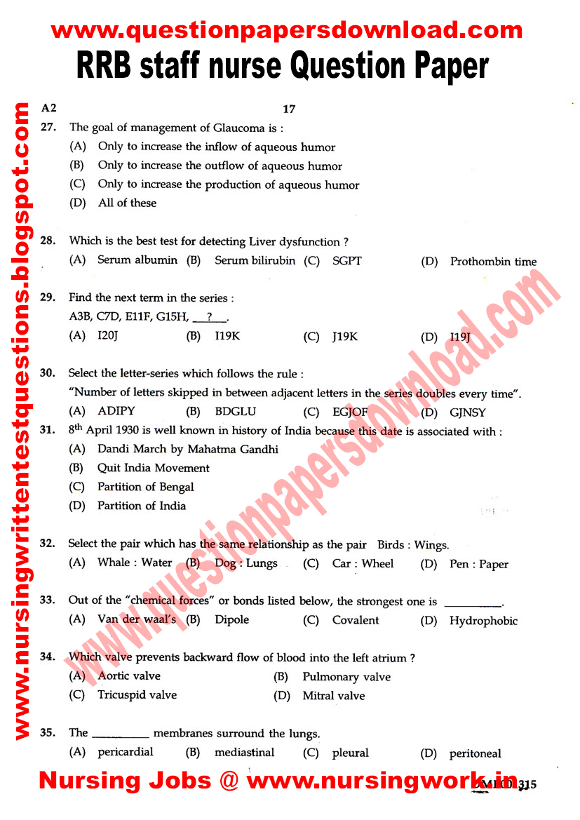 Sample Nursing Questions - Resume Examples | Resume Template
