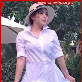 FNH187 Grosir Dress Syahrini Dress Perempuan SW White