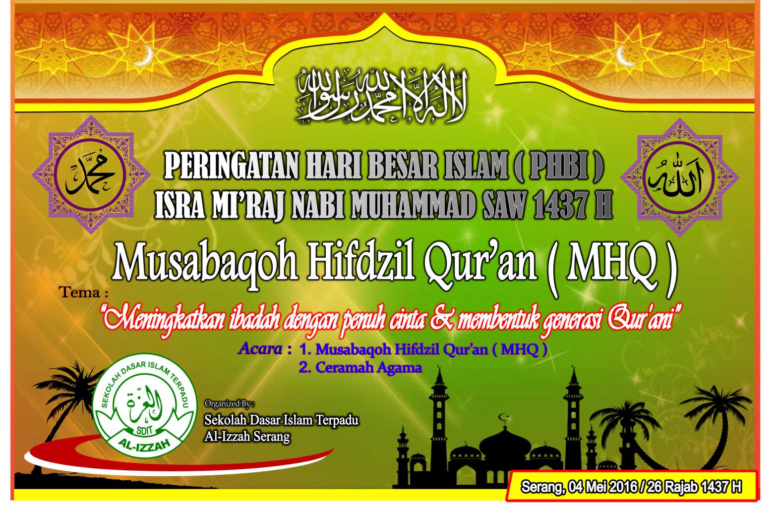 Spanduk Yang Pernah Dibuat Oleh Orang Orang Untuk Acara Peristiwa Isra Miraj Nabi Muhammad Saw Silakan Anda Lihat Sebagai Referensi Untuk Spanduk Yang