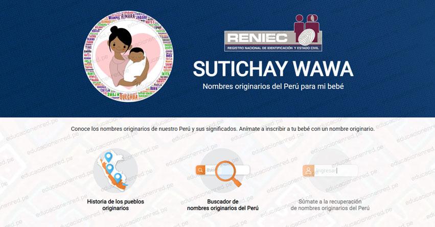 ¿PRÓXIMO A TENER UN BEBÉ? Sutichay Wawa es el aplicativo del RENIEC que te ayudará a poner un nombre originario del Perú al recién nacido