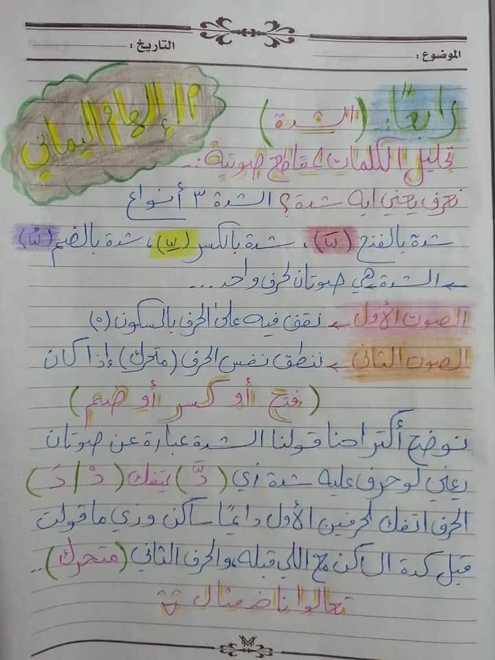 تأسيس عربي | أنواع تحليل الكلمات لمقاطع صوتية لكل الصفوف 5